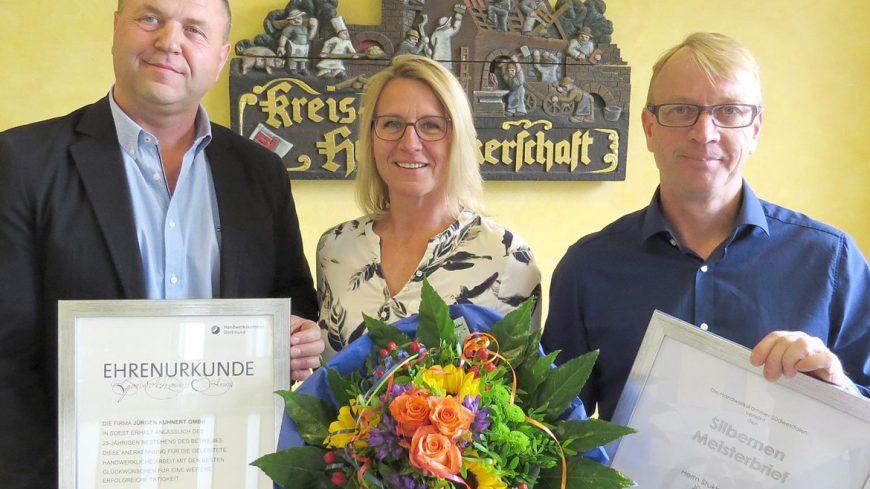 Jürgen Kuhnert mit Silbernem Meisterbrief ausgezeichnet